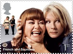 French and Saunders Royal Mail stamp!