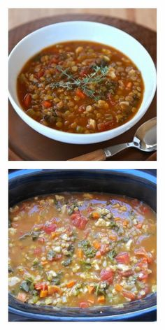 Slow Cooker Lentil Caulflower Stew from The Shiksa in the Kitchen sounds delicious and family-friendly for Meatless Monday! [Featured on SlowCookerFromScratch] #VegetarianSlowCooker #SlowCookerFromScratch