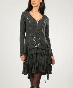 Look at this #zulilyfind! Dark Gray Marie Dress #zulilyfinds