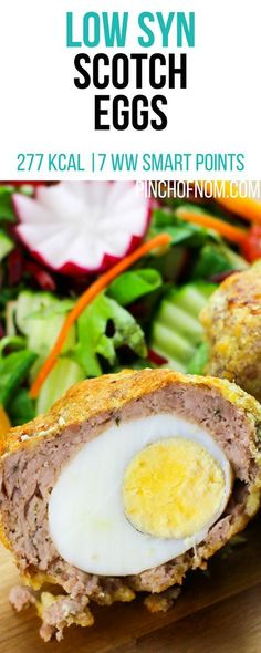 Low Syn Scotch Eggs Pinch Of Nom Slimming World Recipes 277 kcal 1 Syn 7 Weight Watchers Smart Points Pork Sausage Recipes, Mince Recipes, Ham Recipes, Healthy Egg Recipes, Skinny Recipes, Healthy Meals, Healthy Food, Scotch Eggs Recipe, Slimming World Recipes Syn Free