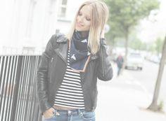 Comme Des Garcons t-shirt Boyfriend Jeans, Bomber Jacket, Vest, Leather Jacket, Fashion Tights, T Shirt, Jackets, Fashion Bloggers, Boyfriends
