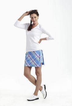 223cc483c9c Ladies Golf Fashion! Check out our Golftini Madras Plaid Wrap Skort for   120.00 Golftini