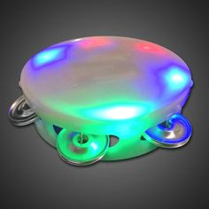 """Battery-operated LED Tambourine  5"""" in diameter  Three flashing modes  Uses 3 AAA batteries (included)  Multicolored LEDs (2 Red, 2 Green, 2 Blue)  Tambourine is made of white colored plastic  Run time is 10+ hours  Individual packages, poly bagged  Fits all hand sizes  For Ages 5 and up     Shop this product here: http://spreesy.com/FlashicaUSA/99   Shop all of our products at http://spreesy.com/FlashicaUSA      Pinterest selling powered by Spreesy.com"""