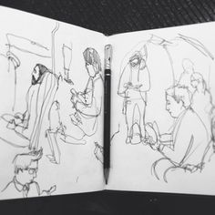 People watching on the tube