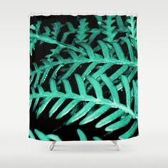 Bracken Fern - Digital Oil Painting Shower Curtain #showercurtain #brackenfern #nature #digitalpainting #society6