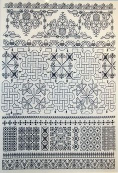 Mabel Bogie Blackwork Sampler, Northern Ireland Embroidery Guild. 30 count linen with 1 strand embroidery cotton.