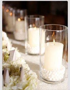 Pearls in candles- So easy and pretty!