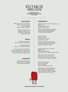 Graphic Design Resumes Graphic Designer Resume#infografia #curriculum #empleo Https