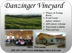 2013 WINERY OF THE YEAR awarded by Wisconsin Grape Growers Assoc to Danzinger Vineyards & Winery at Alma, WI | #WIwinetasting #WIGreatRiverRd