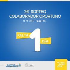 El día de mañana se realizará el 26º Sorteo Colaborador Oportuno. ¡Suerte a todos nuestros colaboradores! utm_content=bufferb5d1b&utm_medium=social&utm_source=www.pinterest.com&utm_campaign=buffer