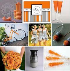 gray and orange theme