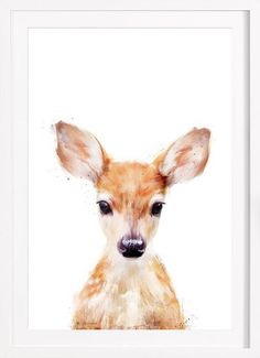 Little Deer as Framed Poster by Amy Hamilton | JUNIQE