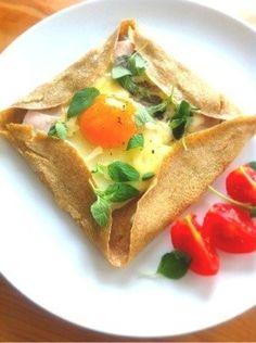 soy milk whole wheat flour galette 全粒粉と豆乳のガレット