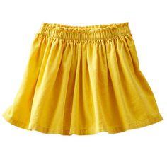 Corduroy Skirt, Osh Kosh, $14, Mustard Yellow