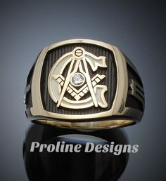 Custom Masonic ring by Proline Designs.