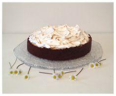 Cheesecake al limone e cioccolato con meringa all'italiana