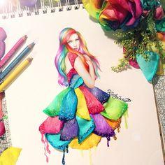 Cette Jeune Artiste utilise de Vrais Objets pour Compléter ses Illustrations