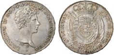 NumisBids: Nomisma Spa Auction 50, Lot 95 : FIRENZE Leopoldo II (1824-1859) Francescone 1826 – Pag. 107 AG (g...