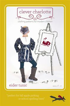 Eider Tunic Sewing Pattern Clever Charlotte sewing patterns