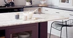 Fired Earth Moderne Fitted Kitchen with stone work top