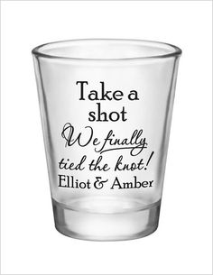 Wedding Shot Glasses Wedding Favors 1.5oz Glass Shot by Factory21