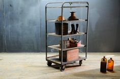 Vineyard Winery Industrial Shelving Carts : Factory 20
