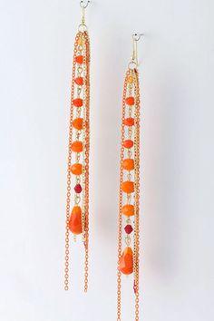 Bead Chain Drop Earrings-cool!