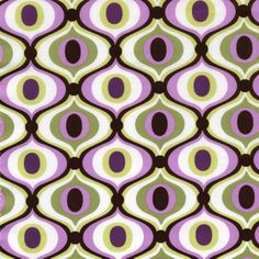 CX3359 feeling groovy orchid geometrics waves swirls peony purple