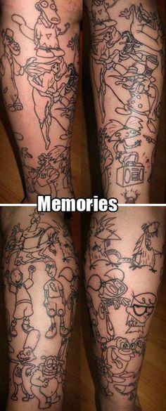 awesome cartoon tattoo