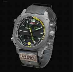 The MTM Special Ops Air Stryk is a Digital Aviator Watch for Men. Comes with a Digital Compass, Chronograph, Alarm, Carbon Fiber Dial & Sapphire Crystal. G Shock, Mtm Special Ops, Gray Yellow, Grey, Survival Watch, 4th Street, Black Ops, Tag Heuer, Digital Watch
