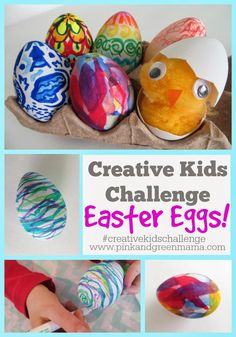 Creative Kids Challenge: Easter Eggs - Mess Free Egg Decorating With Kids