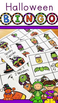 Are you looking for some whole class fun for Halloween? This Digital and Printable Bingo game has 24 unique Bingo Player Cards, filled with fun and bright images! A great way to have some halloween-themed fun with your students! $ Halloween Bingo, Halloween Words, Halloween Themes, Printable Bingo Games, Printables, First Grade Sight Words, Second Grade, Valentine Bingo, First Grade Worksheets
