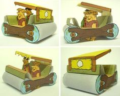 "The Flintstones cartoon completes 50 years old in Mike Daws, designe rof this really cool paper model says: - ""Model of the Flintst. Paper Doll Craft, Doll Crafts, Paper Toys, Paper Crafts, Bambam, Cartoon Paper, Diy Origami, Little Boxes, Paper Models"