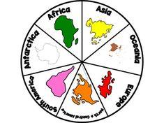 Continent Wheel: Learn the continents maternelle Continent Wheel: Learn the continents Continents Activities, Interactive Activities, Montessori Activities, Kindergarten Activities, Geography For Kids, Teaching Geography, World Geography, Geography Worksheets, Social Studies Worksheets