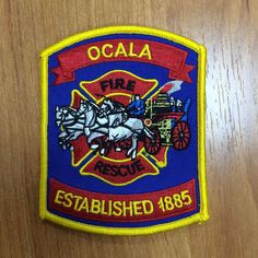 Patch fire Ocala Fire Department USA Florida 100%ORIGINAL Rarity