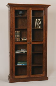 Classic Bookcase: Full Length Glass Doors