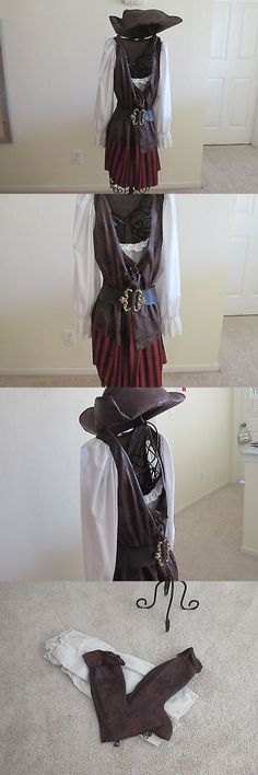 Women Costumes: Adult Women S Pirate Halloween Costume Ladies Pirate Sz. 10-12 -> BUY IT NOW ONLY: $19.95 on eBay!