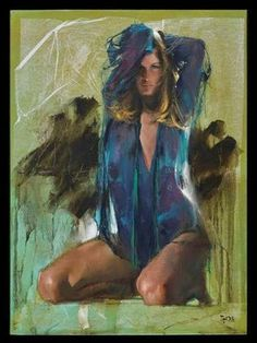 Kai Fine Art is an art website, shows painting and illustration works all over the world. Chef D Oeuvre, Woman Painting, Les Oeuvres, Kai, Fine Art, Illustration, Artist, Artwork, Women