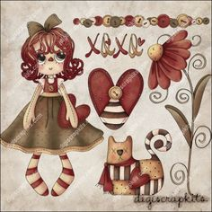 Sweetheart Sally 1 Clip Art Set http://digiscrapkits.com/digiscraps/index.php?main_page=product_info&cPath=921_920&products_id=8826