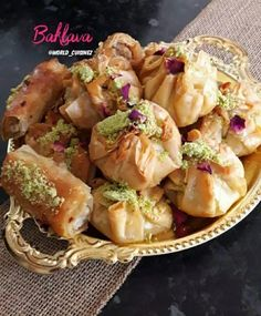 Baklava recipe by Fatima posted on 12 Jul 2019 . Recipe has a rating of by 1 members and the recipe belongs in the Desserts, Sweet Meats recipes category Arabic Dessert, Arabic Food, Arabic Sweets, Indian Dessert Recipes, Ethnic Recipes, Sweet Meat Recipe, Eid Sweets, A Food, Food And Drink