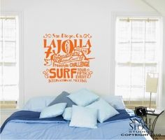 Wall Decals Quote Surf Party  Vinyl Text by singlestonestudios, $32.00