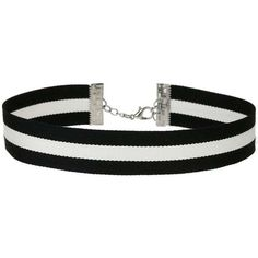 Miss Selfridge Stripe Fabric Choker (€15) ❤ liked on Polyvore featuring jewelry, necklaces, chokers, accessories, assorted, metal choker, metal necklace, choker necklace, white and black necklace and black and white jewelry
