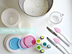 royal icing... color your cookies!