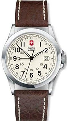 Victorinox Swiss Army Men's Infantry 2nd Time Zone Leather Watch #24799 Victorinox Swiss Army, Swiss Army Watches, Time Zones, Army Men, Accessories, Leather