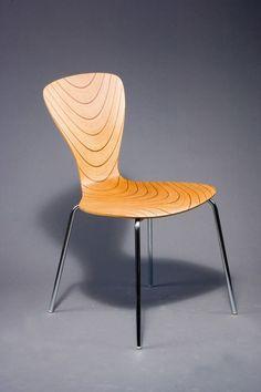 Tapio Wirkkala; Bent Laminated Wood and Chromed Tubular Metal 'Nikke' Chair, 1958.  Vissi ekki að Tapio hefði hannað húsgögn líka. Geggjaður þessi.