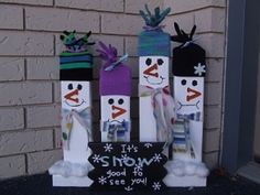 2x4 Snowman family by susan.winchester.370