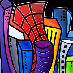 Big City Nights Painting  - Big City Nights Fine Art Print