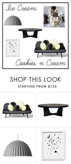 """Cookies n Cream"" by debbyn99 ❤ liked on Polyvore featuring interior, interiors, interior design, home, home decor, interior decorating, XVL, Muuto and icecreamtreats"