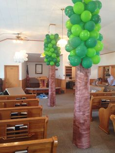 Our backyard Vbs decorations!