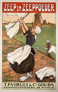 Dutch detergent Vintage Poster, The Netherlands.